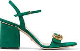 Gucci Suede Sandals - Dark green