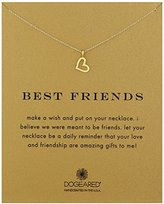 "Dogeared Reminder ""Best Friends"" Gold-Plated Sterling Silver Heart Pendant Necklace, 18"""