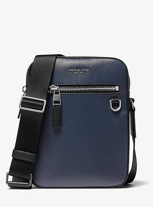 Michael Kors Henry Leather Flight Bag - Navy