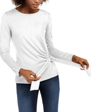 INC International Concepts Inc Side-Tie Top, Created for Macy's