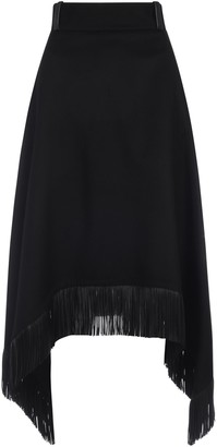 Saint Laurent Fringed Asymmetric Skirt