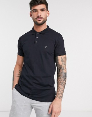 French Connection Essentials polo in navy