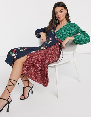 Ted Baker talissa peppermint floral mash up wrap midi dress