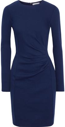 Max Mara Colimbo Pleated Textured Wool-jersey Dress