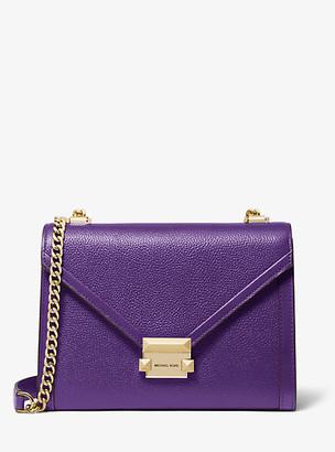 Michael Kors Whitney Large Pebbled Leather Convertible Shoulder Bag
