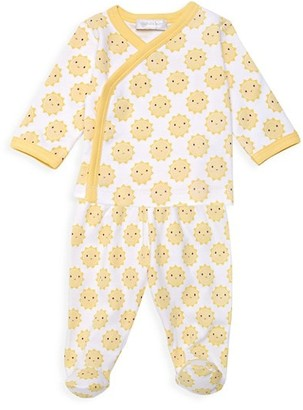 Magnolia Baby Baby's Sunshine-Print Crossover T-Shirt & Footie Pants Set