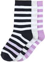 Joe Fresh Kid Girls' 3 Pack Crew Sock, JF Midnight Blue (Size 3-6)