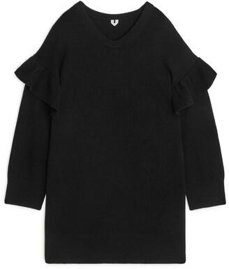 Arket Ruffle Detail Knitted Dress