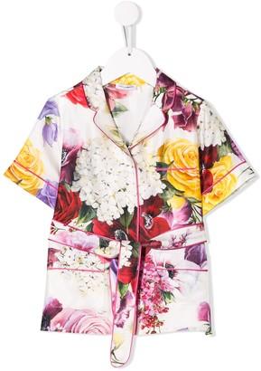 Dolce & Gabbana Floral Print Pijamas Top