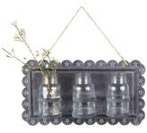 3R Studio Tin Wall Decor with 3 Glass Vases