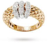 Fope Diamond Set Love Nest Ring in 18 Carat Yellow Gold