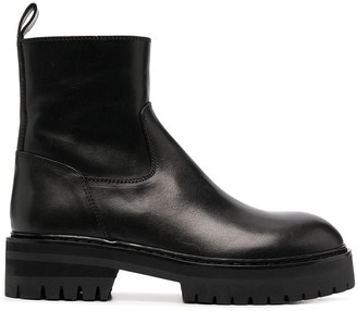 Ann Demeulemeester Lug-Sole Ankle Boots