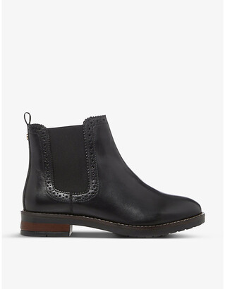 Dune Brogue-detail leather Chelsea boots