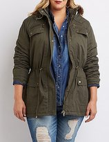 Charlotte Russe Plus Size Faux Fur-Trim Anorak Jacket