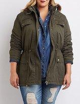 Charlotte Russe Plus Size Faux Fur-Trim Anorak Jacket