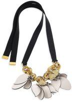 Marni Petals Leather Pendant Necklace