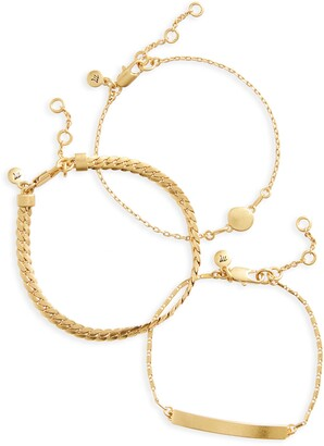 Madewell 3-Pack Chain Bracelet Set
