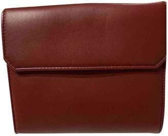 Loewe Burgundy Leather Wallets