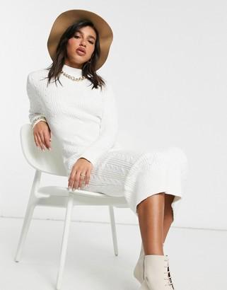 Skylar Rose knitted midaxi dress in cream