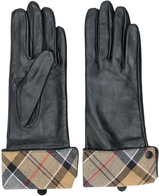 Barbour checked lining gloves