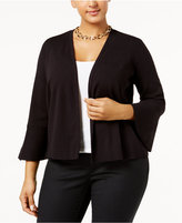 Alfani Plus Size Ruffle-Cuff Cardigan, Only at Macy's