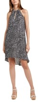 Michael Kors Michael Animal Print High-Low Dress