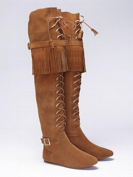 Victoria's Secret Colin Stuart Suede Fringe Boot