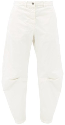 Nili Lotan Carpenter Pleated-leg Cropped Jeans - Cream