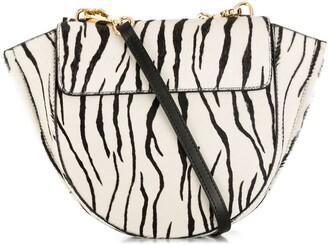 Wandler Hortensia zebra print bag
