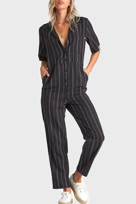 Billabong Hit The Highway Striped Jumpsuit