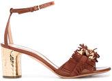 Casadei fringed strap daytime sandals