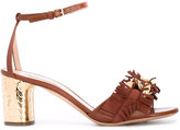 Casadei metallic details sandals - women - Chamois Leather/Leather/Kid Leather - 35