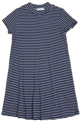Soprano Navy Striped Dress