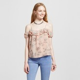 Mossimo Women's Cold Shoulder Blouse Pink