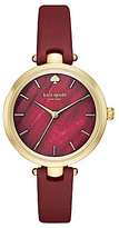 Kate Spade Holland Mother-of-Pearl Analog Leather-Strap Watch