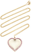 Emily & Ashley 14K Yellow Gold Engravable Pink Sapphire Heart Pendant