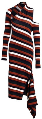 Monse Sliced Asymmetric Knit Midi Dress