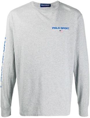 Polo Ralph Lauren Sport Logo-Print Long-Sleeve Shirt