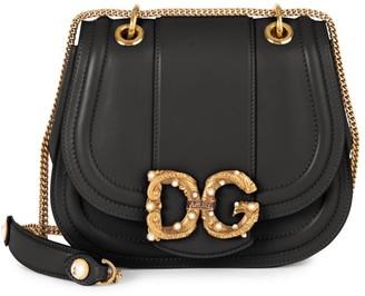 Dolce & Gabbana Amore Leather Saddle Bag