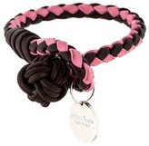 Bottega Veneta Intrecciato Leather Single Wrap Bracelet