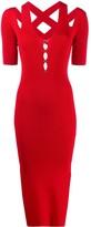 Versace cutout ribbed dress