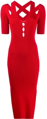 Versace cutout ribbed dress