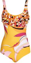 Emilio Pucci Embellished Fiore Print Swimsuit