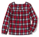 Classic Girls Plus Shirred Yoke Shirt Navy