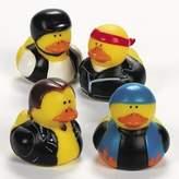 Fun Express Biker Rubber Duck (12 Pack)