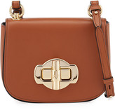 Prada Pattina Saffiano Leather Crossbody Saddle Bag