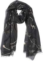 Valentino Panther Printed Modal & Cashmere Scarf