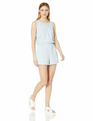 Daily Ritual Amazon Brand Women's Tencel Sleeveless V-Back Romper