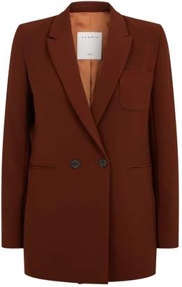 Sandro Double-Breasted Suit Jacket