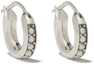 Tom Wood Pearl Embellished Hoop Earrings